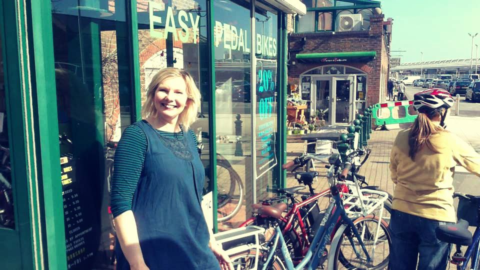 Picture of Anne, Owner at Easy Pedal Bikes, an electric bike shop next to Eastbourne Station